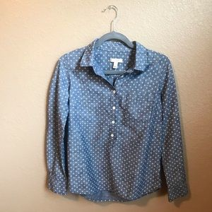 j. crew 1/2 button down blouse